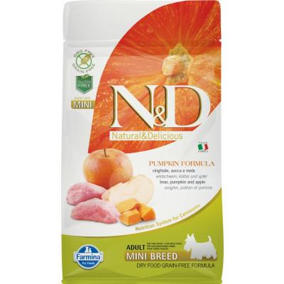 N&D Dog Grain Free Adult Mini sütőtök, vaddisznó & alma 800g
