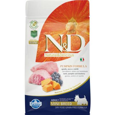 N&D Dog Grain Free Adult Mini sütőtök, bárány & áfonya 800g