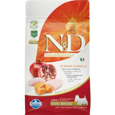 N&D Dog Grain Free Adult Mini sütőtök, csirkehús & gránátalma 800g