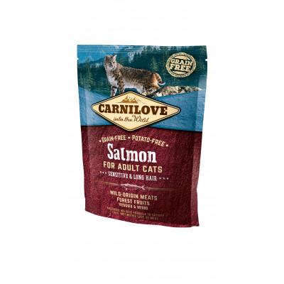 CARNILOVE Cat Adult Lazac – Sensitive & Long Hair 400g