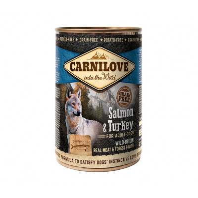 CARNILOVE Konzerv Adult Lazac-Pulyka 400g