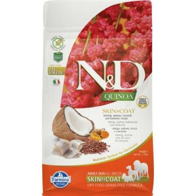 N&D Dog Grain Free Quinoa Skin & Coat Hering – Bőr- és szőrproblémákra 800g