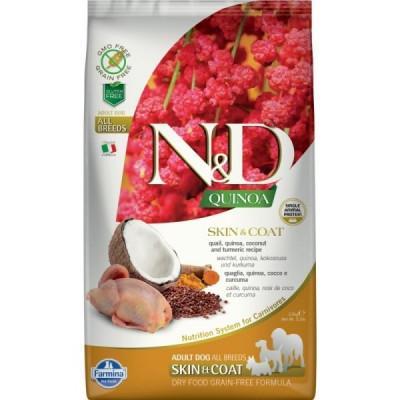 N&D Dog Grain Free Quinoa Skin & Coat Quail Fürj – Bőr- és szőrproblémákra 2,5kg