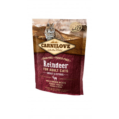 CARNILOVE CAT Adult Rénszarvas – Energy & Outdoor 400G