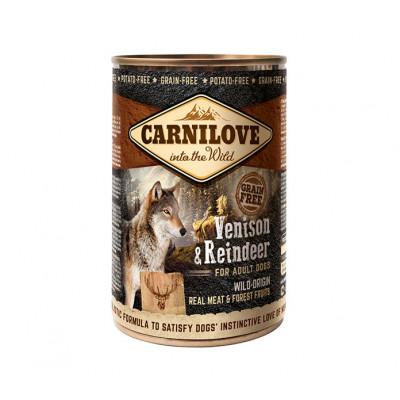 CARNILOVE Konzerv Adult Vadhús-Rénszarvas 400g