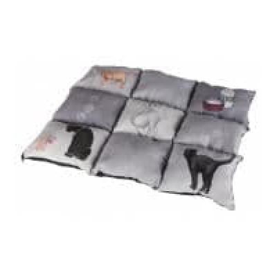 PLÉD Több Lapból Álló Macskáknak 55X45cm Szürke/Világos kék